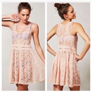 {Anthropologie} Eloise - Light Pink Dress Size S